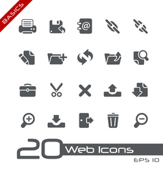 Web Interface Basics Series vector image