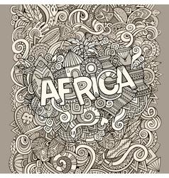 Cartoon cute doodles hand drawn african vector