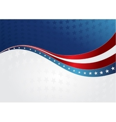 abstract American flag vector image vector image