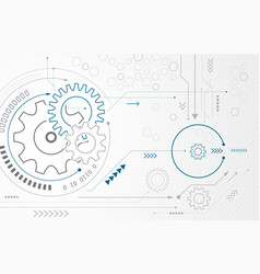 abstract background with gear wheels technology vector image vector image