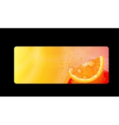 Abstract Orange Background I vector image vector image