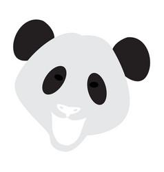 Abstract panda face vector