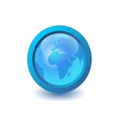 blue earth icon vector image vector image