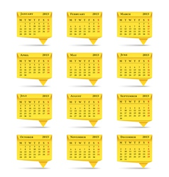 Calendar 2013 Origami Style vector image vector image