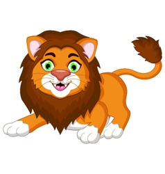 cute lion cartoon posing vector image vector image