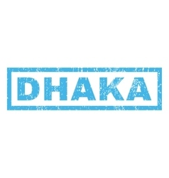 Dhaka rubber stamp vector
