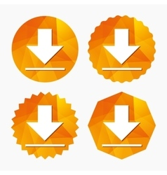 Download icon Upload button vector image