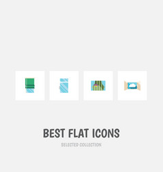 flat icon glass set of curtain balcony clean and vector image vector image
