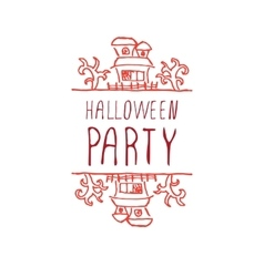 Halloween party - typographic element vector