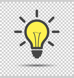 Light bulb line icon isolated on isolated vector