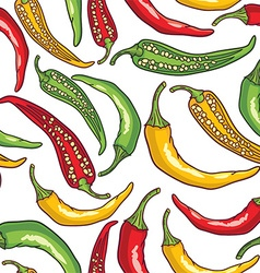 Pepper patterned background vector