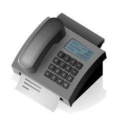 Phone fax vector