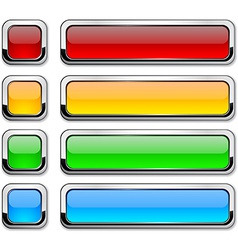 rectangular buttons on white vector image