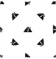 rockfall pattern seamless black vector image