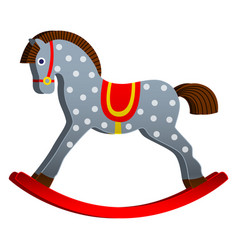 rocking horse children s toy classic wooden vector image