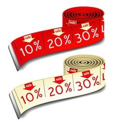 Sale measures vector image vector image