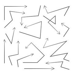 set arrows design elements vector image vector image