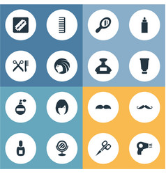 Set of simple barber icons vector