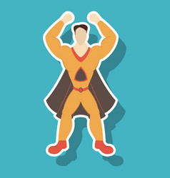 Superhero cartoon icon with superman on vector