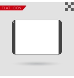 tablet computer Flat Style with red vector image vector image
