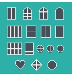 Various Windows vector image vector image