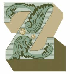 western letter z vector image vector image