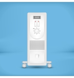 White coastal electric heater vector