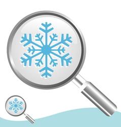 winter search vector image vector image
