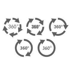 360 degree overview icons vector