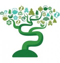 zen icons tree vector image