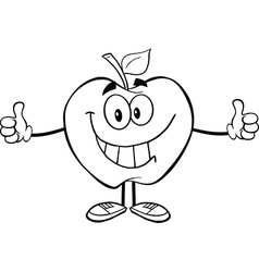 Fun apple activity drawings vector