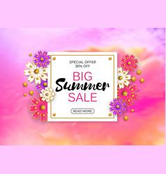 Summer sale banner background layout vector