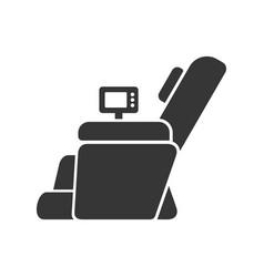 Massage chair icon vector