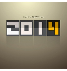 Abstract happy new year 2014 title vector