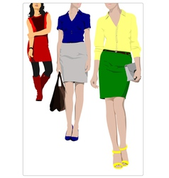 Al 0412 three women vector