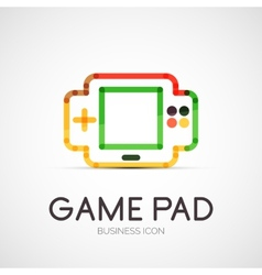 Gamepad company logo business concept vector