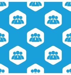 User group hexagon pattern vector