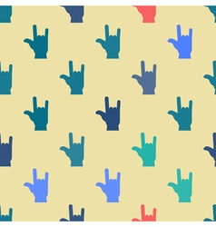 Seamless background with hands and finger icons vector