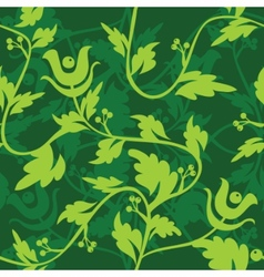 Green floral seamless patter vector