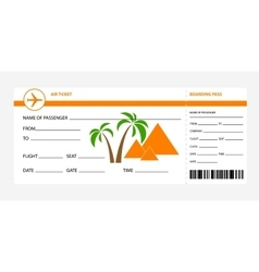 Boarding pass egypt vector