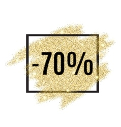 70 percent off discount promotion tag vector