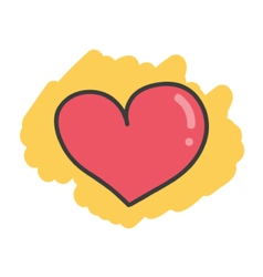 Cartoon doodle heart vector