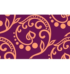 Stock seamless twiddle pattern with curves vector