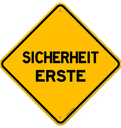 Isolated single sicherheit erste sign vector image