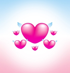 Love heart pink background 2 vector