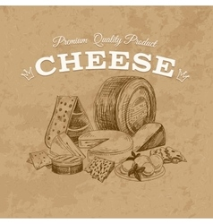 Cheese hand drawn vector