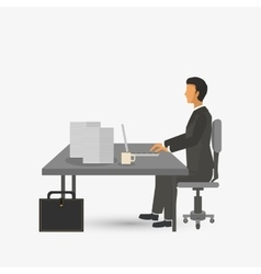 Graphic design of businesspeople  editable vector