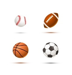 Set of realistic sport balls for soccer vector