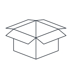 Carton box isolated icon design vector
