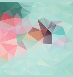 abstract irregular polygon background mint vector image vector image